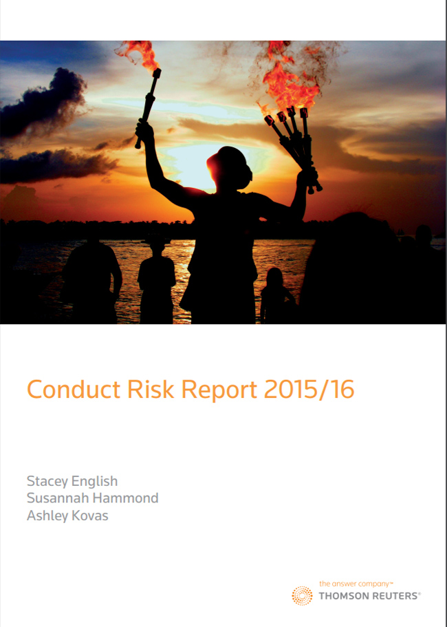 Conduct Risk Report 2015/16