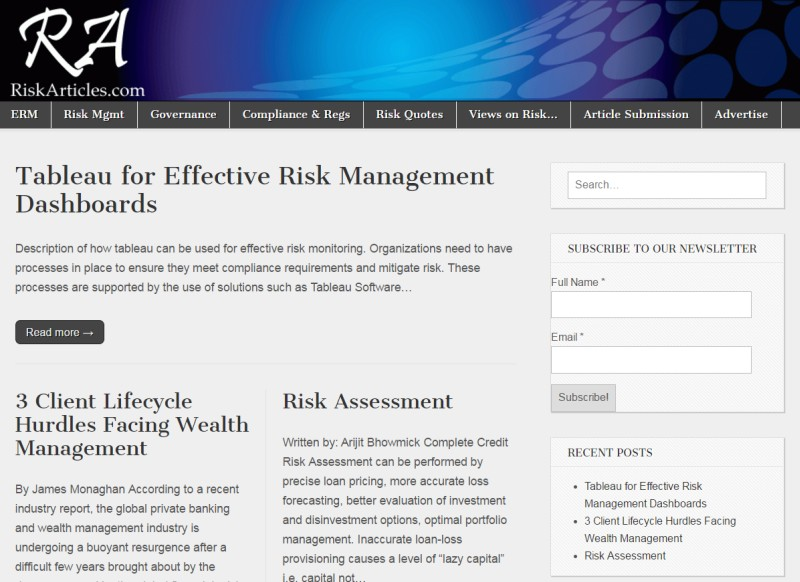 Risk Articles